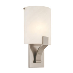 Greco 8-Inch Satin Nickel Sconce