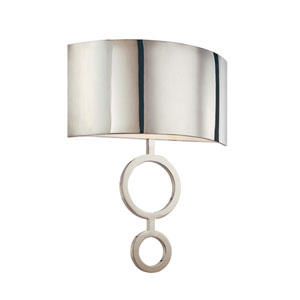 Dianelli 16-Inch Polished Nickel Fluorescent Sconce