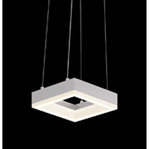 Corona Bright Satin Aluminum LED 7-Inch Square Mini Pendant