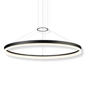 Corona Rings Satin Aluminum 48-Inch Wide LED Pendant