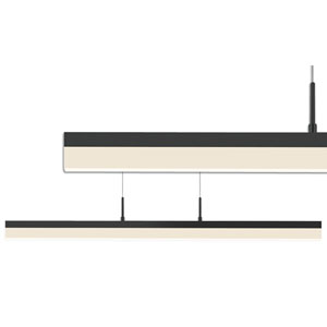 Stiletto Satin Black LED 32.5-Inch Pendant with Frosted Acrylic Shade