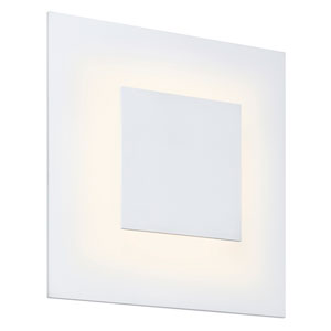 Center Eclipse Textured White LED 8-Inch Wall Sconce