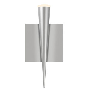 Micro Cone Bright Satin Aluminum LED 4.5-Inch Wall Sconce
