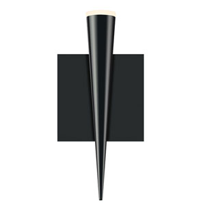 Micro Cone Satin Black LED 4.5-Inch Wall Sconce