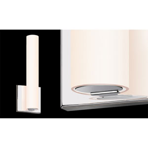 Tubo Slim Polished Chrome LED Flat Trim Wall Sconce