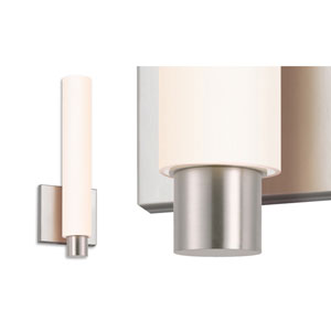 Tubo Slim Satin Nickel LED Drum Trim Wall Sconce