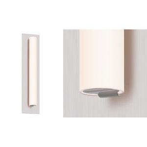 Tubo Slim Satin Nickel LED 15-Inch Panel Wall Sconce