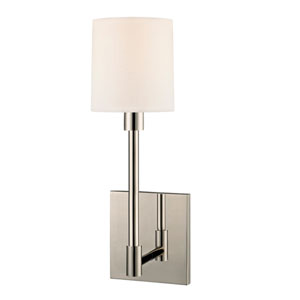 Embassy Polished Nickel LED 4.5-Inch One Light Wall Sconce