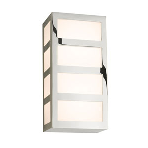 Capital Polished Nickel 10.25-Inch Wall Sconce with White Glass