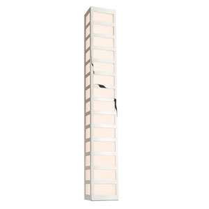 Capital Polished Nickel LED 35-Inch Bath Fixture Strip with White Glass
