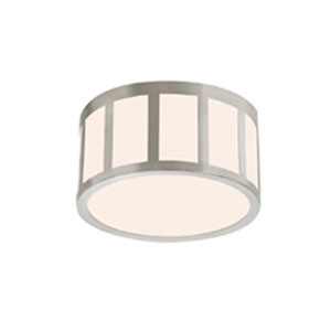 Capital Satin Nickel LED 9-Inch Round Flush Mount