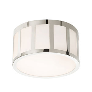 Capital Polished Nickel LED 9-Inch Round Flush Mount
