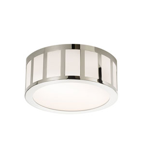 Capital Polished Nickel LED 12-Inch Round Flush Mount
