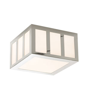 Capital Polished Nickel LED 8-Inch Square Flush Mount