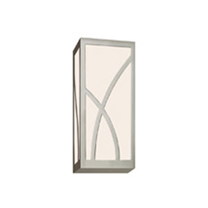 Haiku Satin Nickel LED 5-Inch Wall Sconce with White Glass
