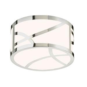 Haiku Polished Nickel LED 4.75-Inch Round Flush Mount