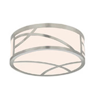 Haiku Satin Nickel LED 5-Inch Round Flush Mount with White Glass