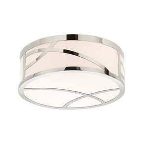 Haiku Polished Nickel LED Round Flush Mount