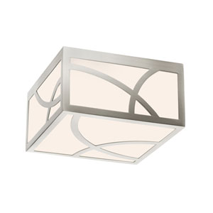Haiku Satin Nickel LED 8-Inch Square Flush Mount