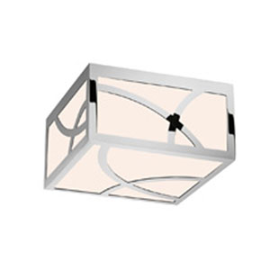 Haiku Polished Nickel LED 8-Inch Square Flush Mount