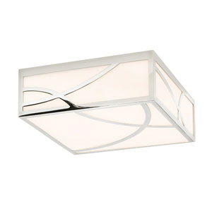Haiku Polished Nickel LED Square Flush Mount