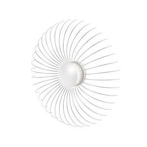 Fontanna Satin White 21-Inch LED Wall Sconce