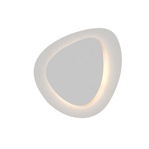 Abstract Panels Textured White LED Large 2-Plate Wall Sconce