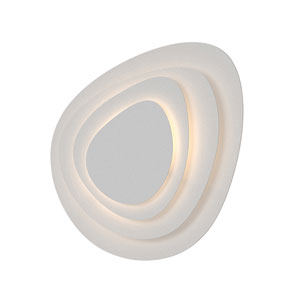 Abstract Panels Textured White LED 4-Plate Wall Sconce