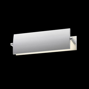 Aileron Bright Satin Aluminum LED Sconce