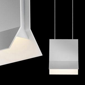 Lambda Bright Satin Aluminum LED Pendant