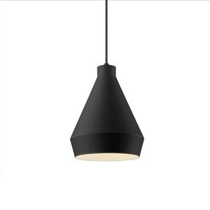 Koma Satin Black LED Pendant