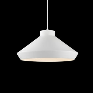Koma Satin White LED Pendant