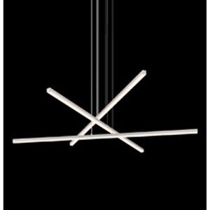 Stix Bright Satin Three-Light LED Pendant