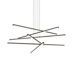 Stix Satin Black Six-Light LED Pendant