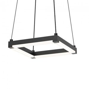 Stix Square Satin Black 9-Inch LED Mini Pendant with Frosted Optical Acrylic Shade