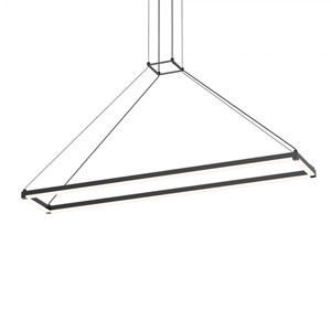 Stix Rectangle Satin Black 47-Inch x 9-Inch LED Pendant with Frosted Optical Acrylic Shade
