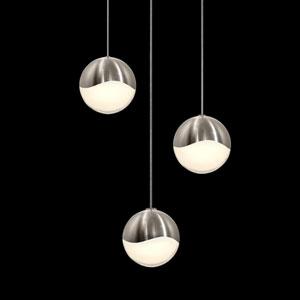 Grapes Satin Nickel 3-Light LED Pendant
