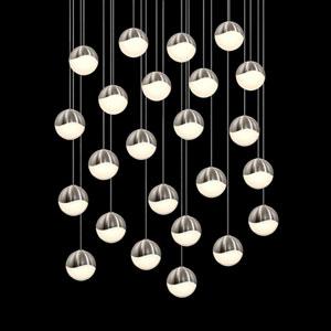 Grapes Satin Nickel 24-Light LED Pendant