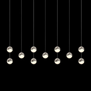 Grapes Satin Nickel 11-Light LED Pendant
