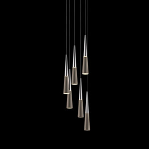 Spire Polished Chrome Six-Light LED Pendant