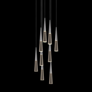 Spire Polished Chrome Nine-Light LED Pendant