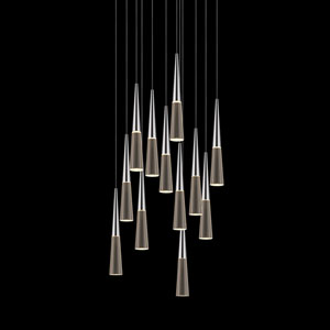 Spire Polished Chrome Twelve-Light LED Pendant