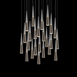 Spire Polished Chrome 24-Light LED Pendant