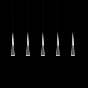 Spire Polished Chrome Five-Light LED Pendant
