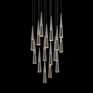 Spire Polished Chrome 16-Light LED Pendant