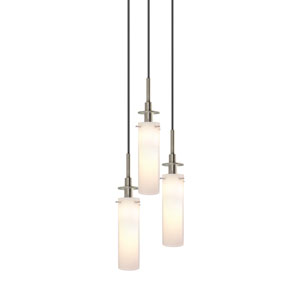 Candle Satin Nickel Three-Light Mini Pendant