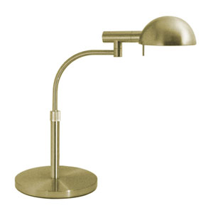 E-Dome Satin Brass One-Light Desk Lamp