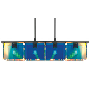 Dichroix Black Brass Four-Light Pendant