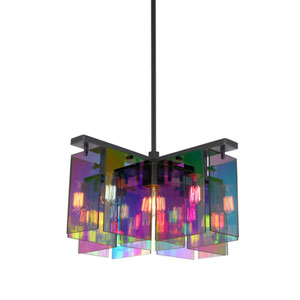 Dichroix Black Brass Five-Light Chandelier