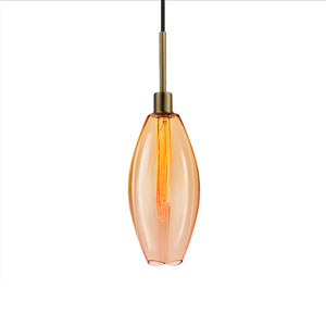 Lillia Retro Brass 1-Light Pendant
